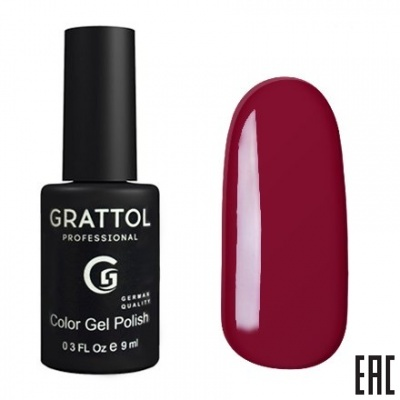 Grattol Color Gel Polish Red Ruby