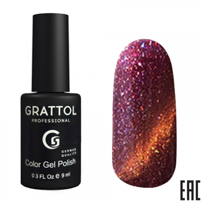 Grattol Color Gel Polish 9D Cat Eye 07