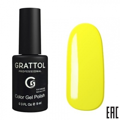 Grattol Color Gel Polish Yellow